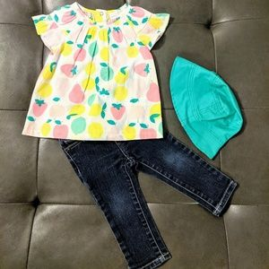 Adorable Little girls 3 PC outfit with hat